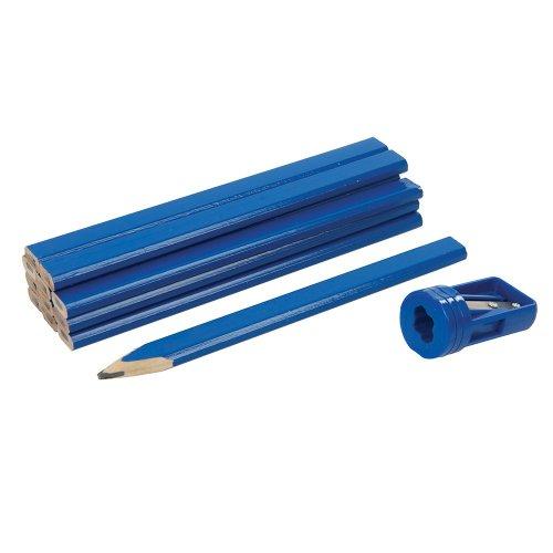 13Pce Carpenters Pencils & Sharpener Set