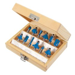 12Pce 8mm TCT Router Bit Set