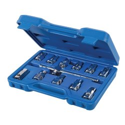 12Pce Universal Drain Plug Key Set 3/8in / 8 - 17mm