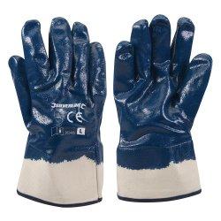 Jersey Lined Nitrile Gloves [Large]