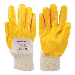 Open Back Interlock Nitrile Gloves [Large]