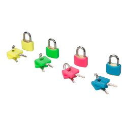 4Pce Hi-Vis Brass Padlocks Set 20mm