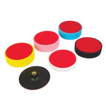 6Pce Hook & Loop Polishing Foam Head Kit 150 x 50mm