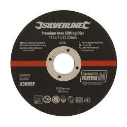 115 x 1 x 22.23mm Premium Inox Slitting Disc [Pack of 10]