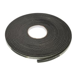 Self-Adhesive EVA Foam Gap Seal 3 - 8mm / 10.5m Black