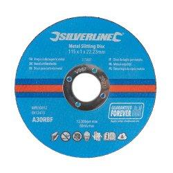 Metal Slitting Discs 115 x 1 x 22.23mm [Pack of 3]