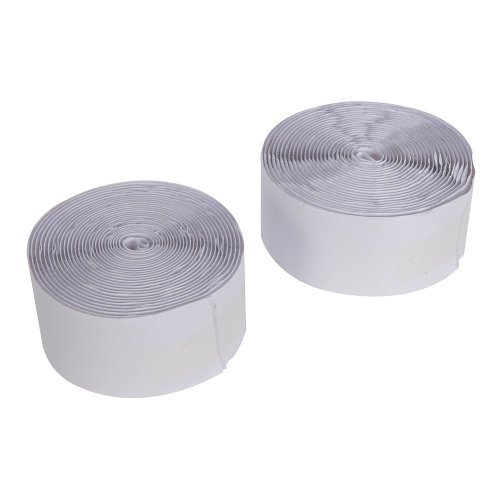 2Pce Hook & Loop Tape White Self-Adhesive 50mm x 5m