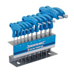 10Pce  T-Handle  Hex  Keys