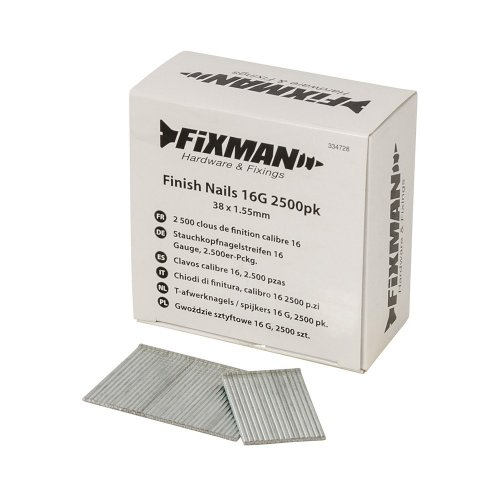 Finish Nails 16G  38 x 1.55mm [Pack of 2500]