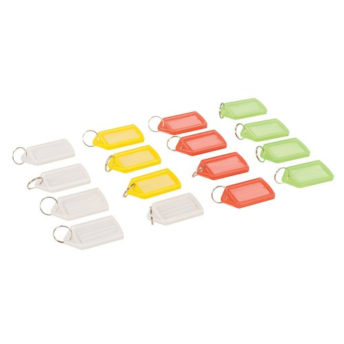 Coloured Large Key Tags [Pack of 16]