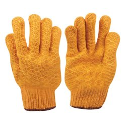 Yellow Gripper Gloves [Large]