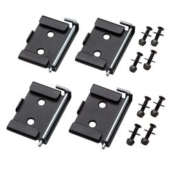 70 x 95mm Quick-Release Workbench Caster Plates [Pack of 4]