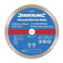Diamond Mini Saw Blade 85mm Dia - 10mm Bore