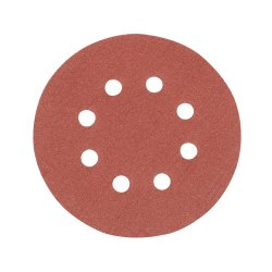125mm Hook & Loop Discs Punched 120 Grit [Pack of 10]