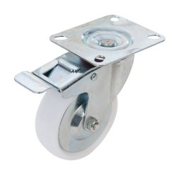 100mm Braked Swivel Polypropylene Castor 125kg