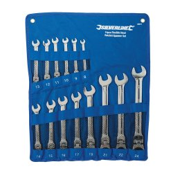 14Pce Flexible Head Ratchet Spanner Set 8 - 24mm
