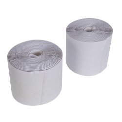 2Pce Hook & Loop Tape White Self-Adhesive 100mm x 5m