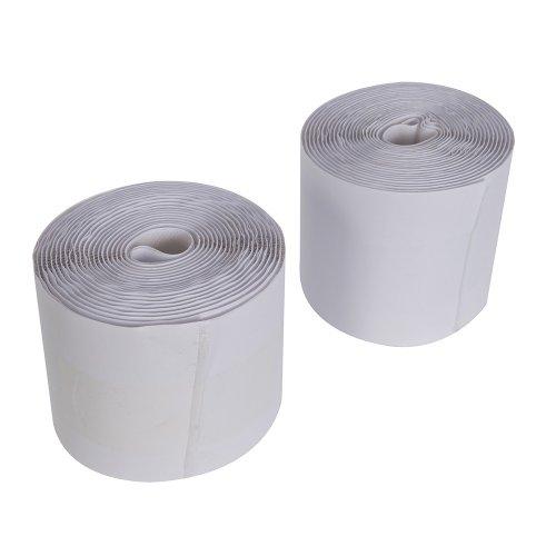 2Pce Hook & Loop Tape White Self-Adhesive 100mm x 5m