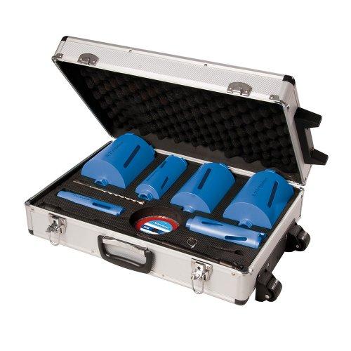 12Pce Diamond Core Drill Kit 6-Core 38, 52, 65, 107, 117 & 127mm