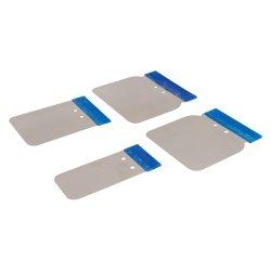4Pce Stainless Steel Body Filler Application Set 50, 80, 100 & 120mm