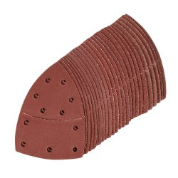 Hook & Loop Multi-Sander Sheets 102 x 62mm, 93mm 5 x 40, 60, 80, 120, 180 Grit [Pack of 25]