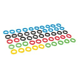 Coloured Plastic Key Covers  [Pack of 50]