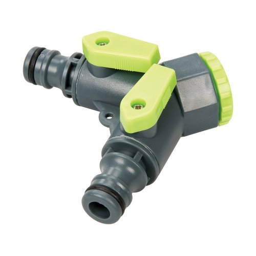 2-Way Tap Connector 3/4in BSP to 1/2in Male