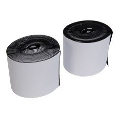 2Pce Hook & Loop Tape Black Self-Adhesive 100mm x 5m