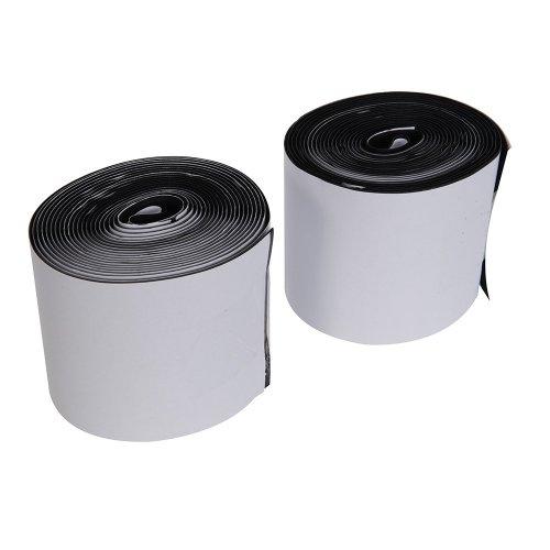 2Pce Hook & Loop Tape Black Self-Adhesive 100mm x 5m