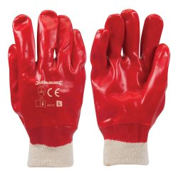 Red PVC Gloves [Large]