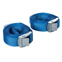 Cam Buckle Tie Down Strap 2.5m x 25mm  [Pack of 2]