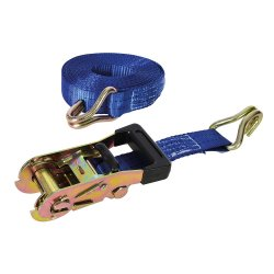 Rubber  Handled  Ratchet  Tie  Down  J-Hook  Straps  [6m  x  38mm]