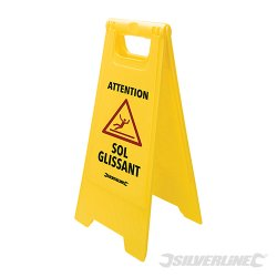 A Frame Caution Wet Floor Sign