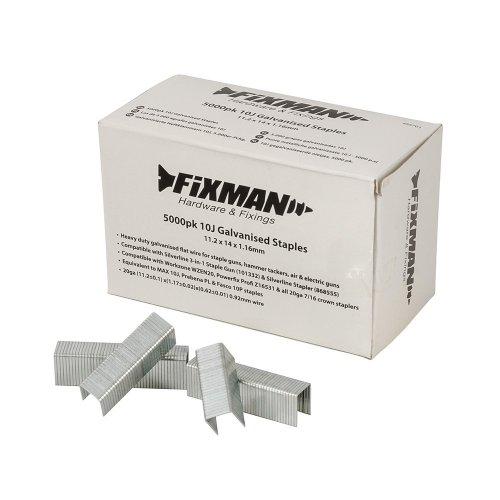 10J Galvanised Staples  11.2 x 14 x 1.17mm [Pack of 5000]