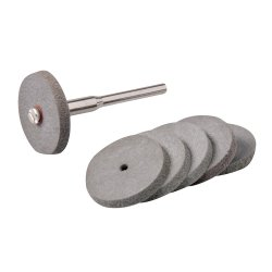 7Pce Rotary Tool Rubber Polishing Wheel Set 22mm Dia