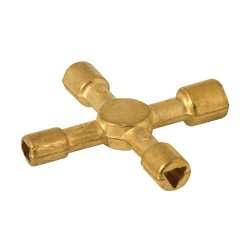 Brass Quad Key 4-in-1