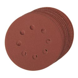 125mm Hook & Loop Discs Punched [4 x 60G, 2 x 80G, 120G, 240G]