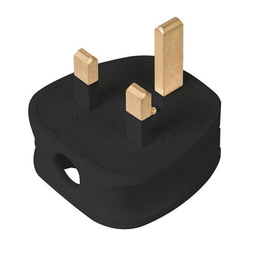 13A Fused Plug Black