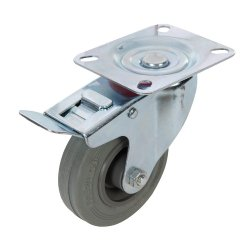 Braked  Swivel  Rubber  Castors