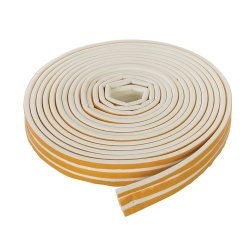 Self-Adhesive P-Profile Weather Strip 3 - 5mm / 15m White