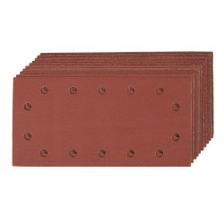 10Pce Hook & Loop 1/2 Sheets Punched [2 x 60G, 3 x 80G, 120G, 2 x 240G]