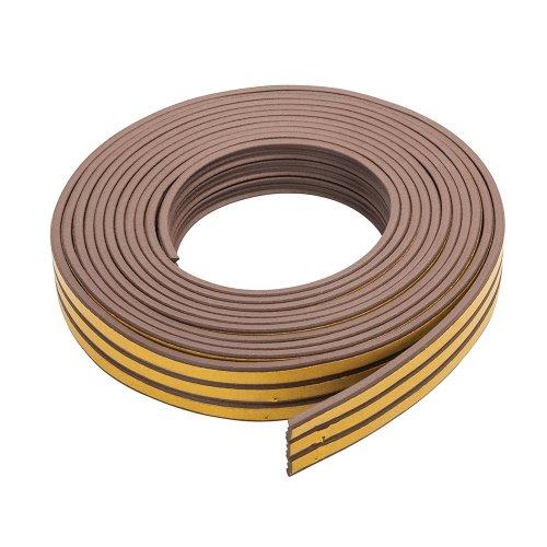 Self-Adhesive P-Profile Weather Strip 3 - 5mm / 15m Brown