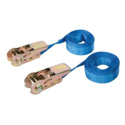 Endless Ratchet Tie-Down Strap Rated 250kg Capacity 500kg [Pack of 2]