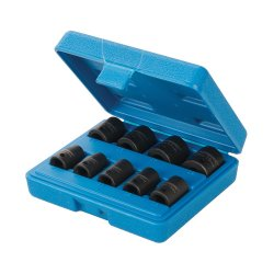 9Pce Impact Socket Set 3/8in Drive 6pt Metric 8 - 19mm