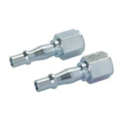 Air Line Coupling Bayonet Female Thread 1/4in BSP [Pack of 2]