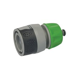 Soft-Grip Water Stop Hose Quick Connector 1/2in Female