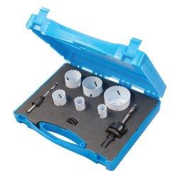 9Pce Plumbers Bi-Metal Holesaw Kit 19 - 57mm Dia