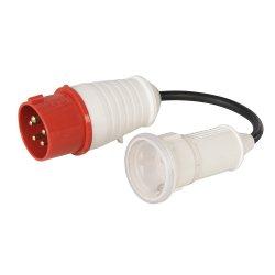 16A CEE 400V Plug to 16A Schuko Socket Fly Lead Co 400V 5 Pin