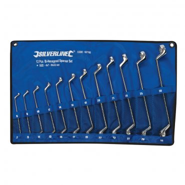 12Pce Deep Offset Ring Spanners Set 6 - 32mm