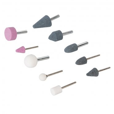 10Pce Mounted Stone Set 6mm & 3mm Shanks